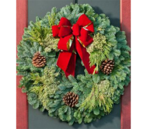 Fresh Christmas Wreaths by George Thomas Florist